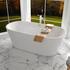 Room Scene showing Verone White freestanding bath