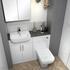 WHITE BATHROOM COMBINATION VANITY UNIT AND TOILET