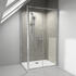 RADIANT REDUCED HEIGHT SHOWER DOOR SLIDING 1000 WITH SIDE PANEL