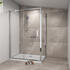RADIANT REDUCED HEIGHT SHOWER DOOR SLIDING 1200 WITH SIDE PANEL