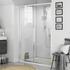 Room Scene view of 1200mm Sliding Shower Door in Recessed Installation