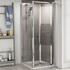 Room Scene showing 700mm Bi-fold shower door with safety glass