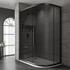 Jaquar Black Shower Enclosure Offset Quadrant