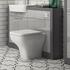 Grove 1200 Vanity Suite and Straight Shower Bath Platinum Grey - 179571