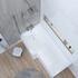 acrylic modern quality acrylic modern quality L Shape Shower Bath Left Handed Model