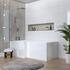 Patello 60 Unit With White Pattello Back To Wall Unit and L-Shape Bath With Screen
