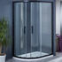 Bentley Black Offset Quadrant Shower Enclosure 800
