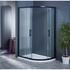 Bentley Black Offset Quadrant Shower Enclosure 800 OPEN DOORS