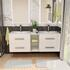 Grey Double Basin Bathroom Furniture with Storage