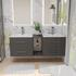 Wall hung vanity unit in grey for large bathrooms