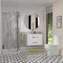 wall hung bathroom furniture with storage