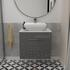 2 draw wall hung vanity bathroom unit for small bathrooms