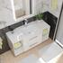 Bathroom Furniture Wall Hung Vanity unit with glass shelves