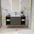 Bathroom wall hung vanity unit with storagee