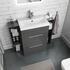 1000mm Vanity Unit in Grey with Storage