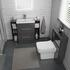 Bathroom Suite with storage and back to wall toilet