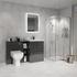 Bathroom Shower Suite in Grey with Storage