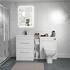 Bathroom Shower Suite Vanity Unit with Toilet