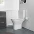 Grey Bathroom Vanity Unit top view with Comfort Height Toilet