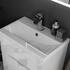 White Vanity Unit with 2 Draws and Toilet top view