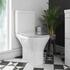 Patello Bathroom Comfort Height Toilet with thin seat