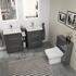 Double Vanity Bathroom Furniture with Toilet