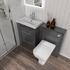 1200 Vanity Unit in Grey with Back to Wall toilet Top view