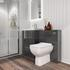Bathroom Furniture Unit with toilet in grey