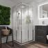 Bathroom Shower Enclosure in chrome with chrome handles