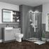 1200mm Bathroom Furniture with toilet, mirror cabinet and corner shower