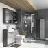 Grey Luxury Shower Suite with combination unit, mirror cabinet and tall boy unit.