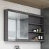 Bathroom Mirror Unit with 2 doors and storage