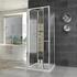 chrome three sided shower cubicle