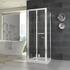 chrome finish shower cubicle