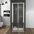 shower enclosure 3 sided bifold chrome doors