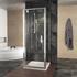 pivot chrome shower enclosure