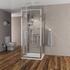 three sided shower enclosure