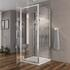 3 sided small shower for small bathrooms