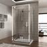 three sided shower pivot doors