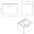 Britton MyHome Wall Hung 600mm Vanity Unit Dimensions