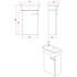 Britton MyHome Wall Hung Cloakroom 360mm Vanity Unit Dimensions