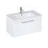 Britton Shoreditch Wall Hung 850mm Vanity Unit White