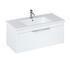 Britton Shoreditch Wall Hung Single Drawer 1000mm Vanity Unit White