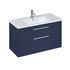 Britton Shoreditch Wall Hung Double Drawer 1000mm Vanity Unit Blue