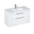 Britton Shoreditch Wall Hung Double Drawer 1000mm Vanity Unit White