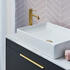 Britton Shoreditch Wall Hung 850mm Vanity Unit with Yacht Countertop Basin Single Drawer Close up