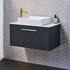 Britton Shoreditch Wall Hung 850mm Vanity Unit with Yacht Countertop Basin Single Drawer