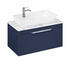 Britton Shoreditch Wall Hung 850mm Vanity Unit with Yacht Countertop Basin Single Drawer Blue