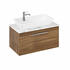 Britton Shoreditch Wall Hung 850mm Vanity Unit with Yacht Countertop Basin Single Drawer Caramel