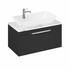 Britton Shoreditch Wall Hung 850mm Vanity Unit with Yacht Countertop Basin Single Drawer Grey